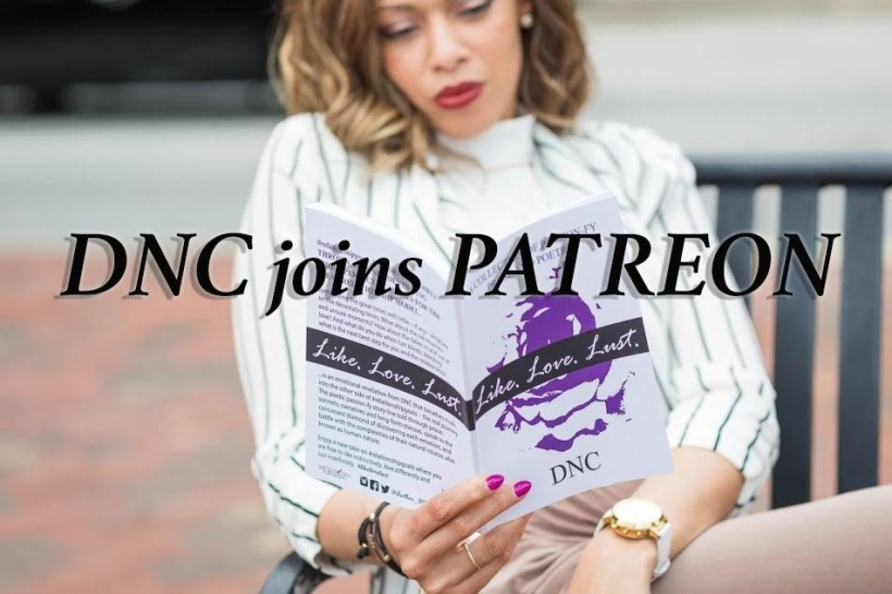 Author, writer and poet DNC joins Patreon to share passion-fy stories